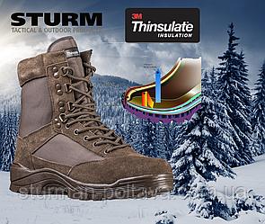 Берци чоловічі зимові тактичні Mil-Tec утеплені утеплювач Thinsulate™ коричневі Німеччина