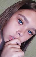 Цветные линзы для глаз. Красивые голубые линзы. Кукольные линзы для глаз. Яркие голубые линзы для глаз