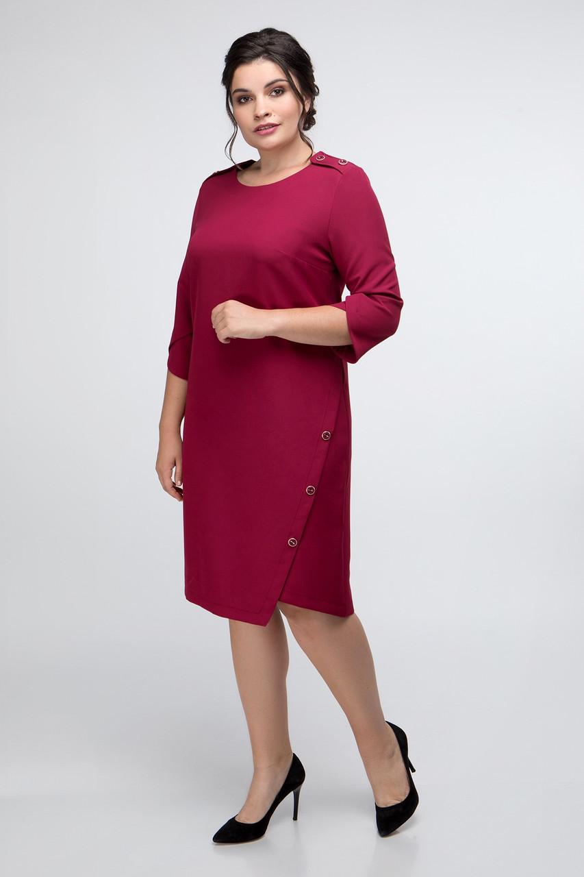 Платье ТМ ALL POSA Австрия бордовый 52 (1385-2)