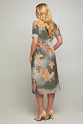 Платье ТМ ALL POSA Лидия оранжевый 50 (100052)