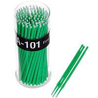 Микробраш апликатор 100шт зеленый 2мм