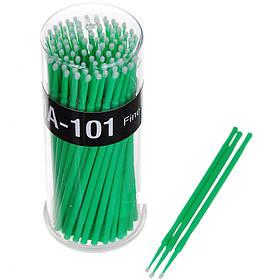 Микробраш апликатор 100шт зелений 2мм