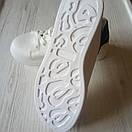 Белые кеды женские білі кеди жіночі, фото 4