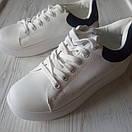 Белые кеды женские білі кеди жіночі, фото 7