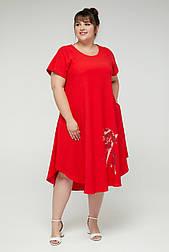 Платье ТМ ALL POSA Дженни красный 54 (100183) 52