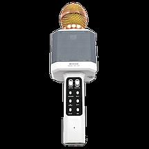 Мікрофон караоке WSTER WS-1828 - Бездротовий мікрофон караоке з динаміком і світломузикою Білий, фото 2