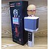 Мікрофон караоке WSTER WS-1828 - Бездротовий мікрофон караоке з динаміком і світломузикою Білий, фото 5
