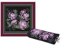 Набор для вышивки Очечник Хризантемы