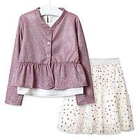 Комплект для дівчинки 3 в 1 Парасолька, рожевий Baby Rose (80)