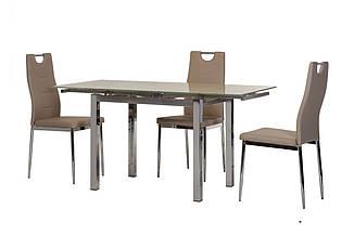Стол Т-231-8 серый 90/150 от Vetro Mebel , стекло