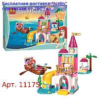 Конструктор 11175  DP,  замок принцессы,  лодка,  фигурка,  118дет,  в кор-ке,  26-19, 5-5см