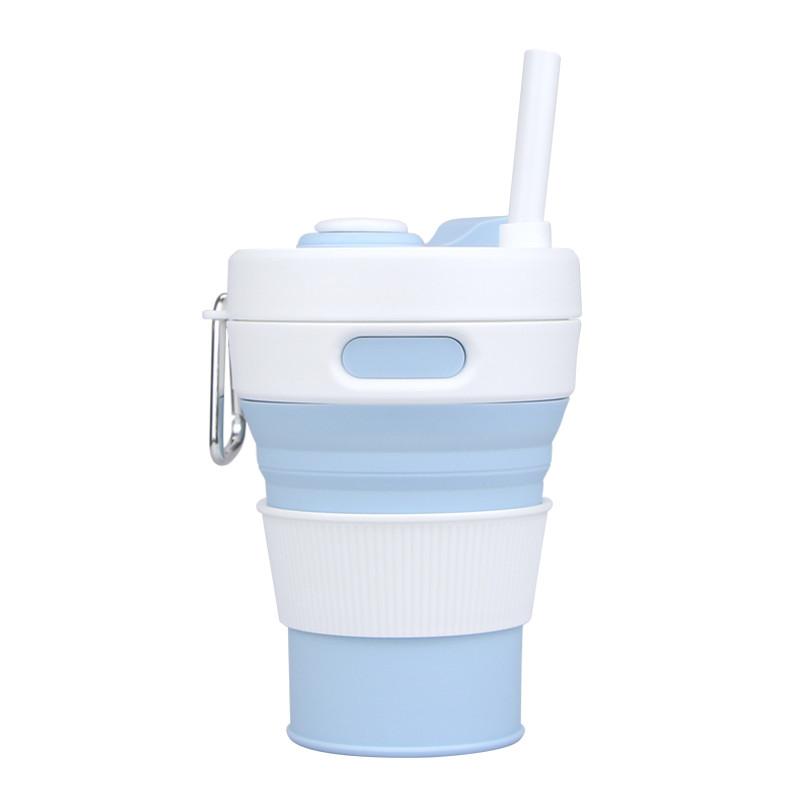 Чашка силиконовая Eco Cup Transformer с карабином 450 мл