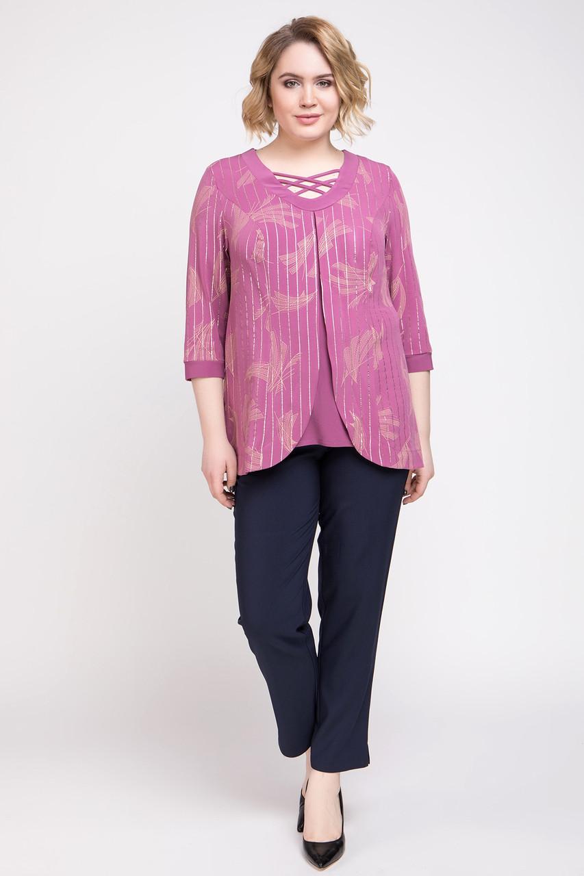 Блузка ТМ ALL POSA Луис розовый 52 (1324-4)