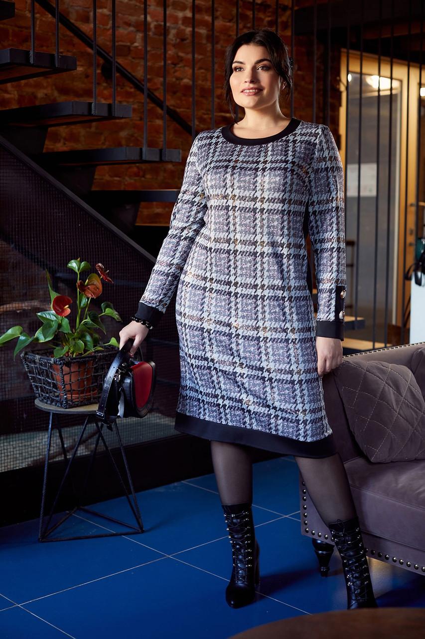 Платье ТМ ALL POSA Евгения черный 52 (1401-5) 54
