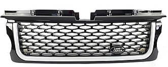 Решетка радиатора Range Rover Sport L320 (05-09) стиль Autobiography (черная + серебро)