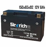 Аккумулятор6Ah 12V Skyrich YT7B-BS SLA150x65x92