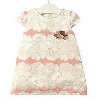 Платье для девочки Элегантность, розовый Flexi (6-9 мес)
