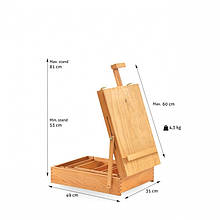 Мольберт настольный художественный деревянный бук New Energy №18