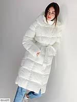 Женская Зимняя Куртка Пуховикженский пуховик Длинная Голубая, Белая, Черная