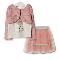 Комплект для дівчинки 3 в 1 Pretty girl, рожевий Baby Rose (80)