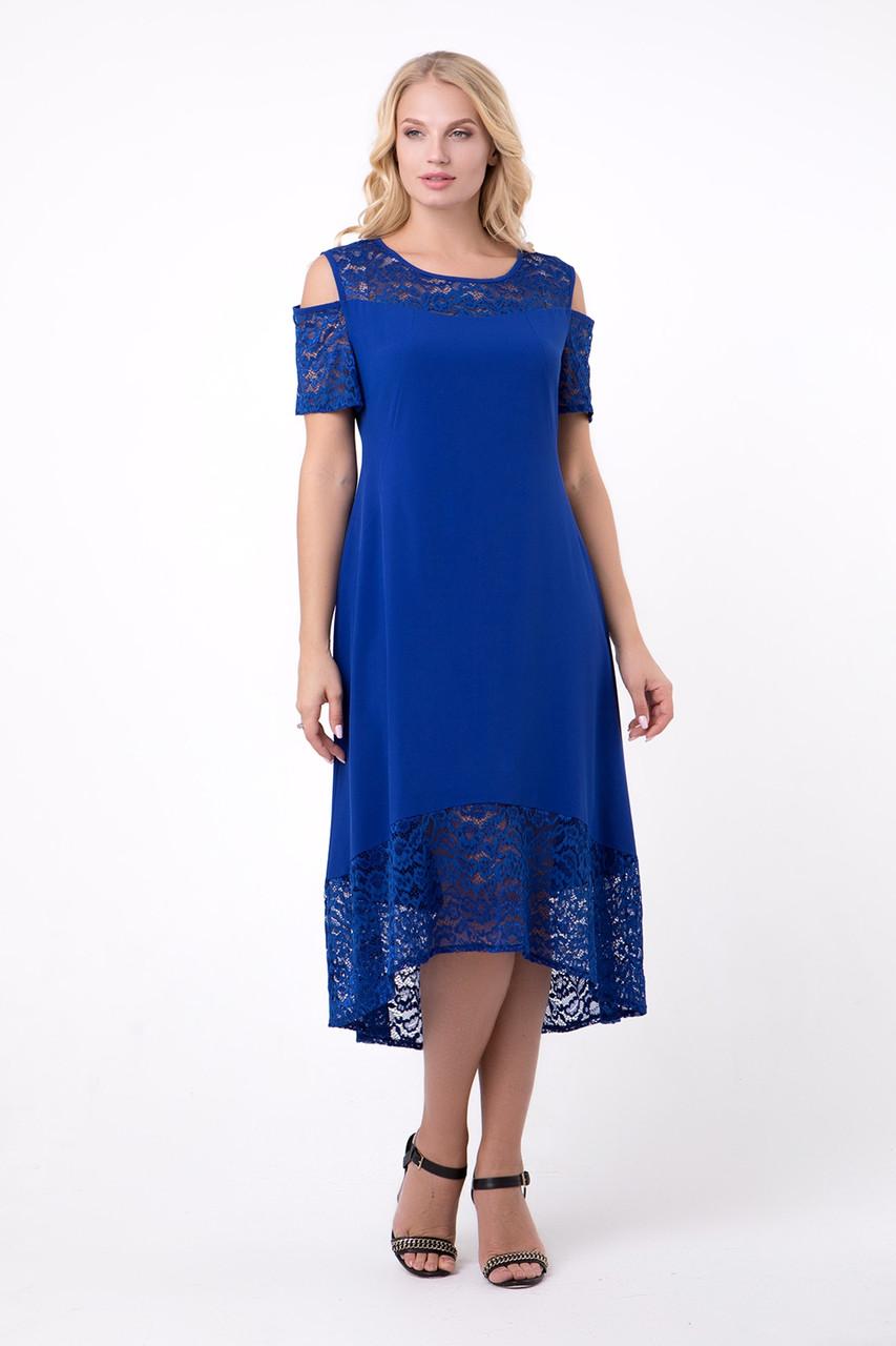Платье ТМ ALL POSA Вояж электрик 50 (1353-2)