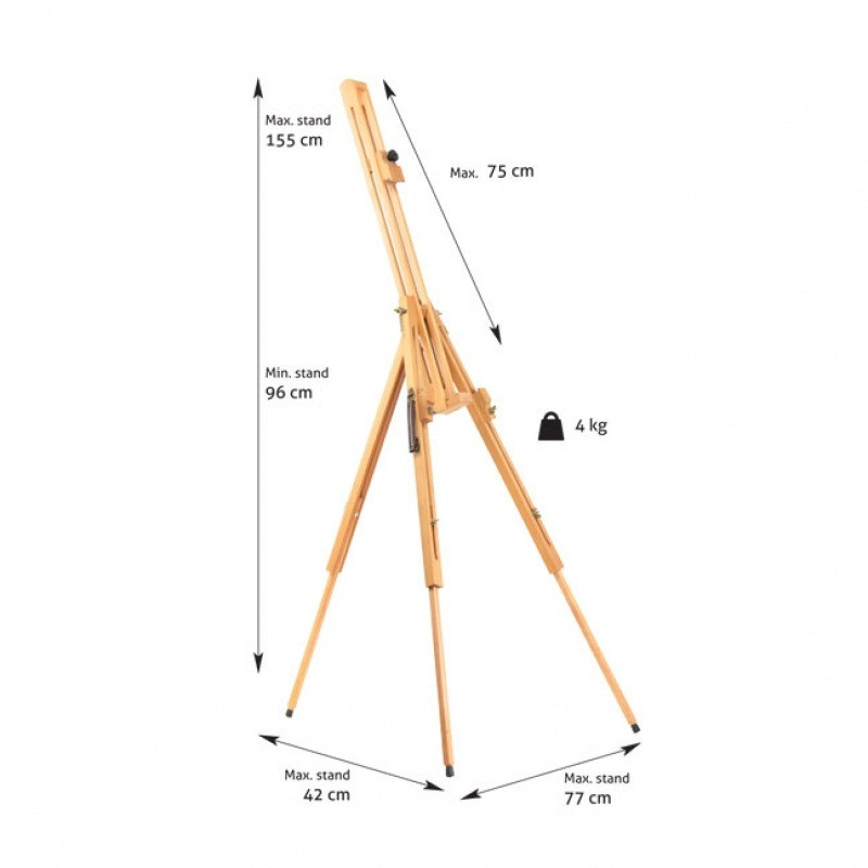 Мольберт детский напольный художественный деревянный New Energy №23 бук