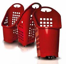 Корзина покупательская 64 л на колесах 360 Flexi cart Bizzarri