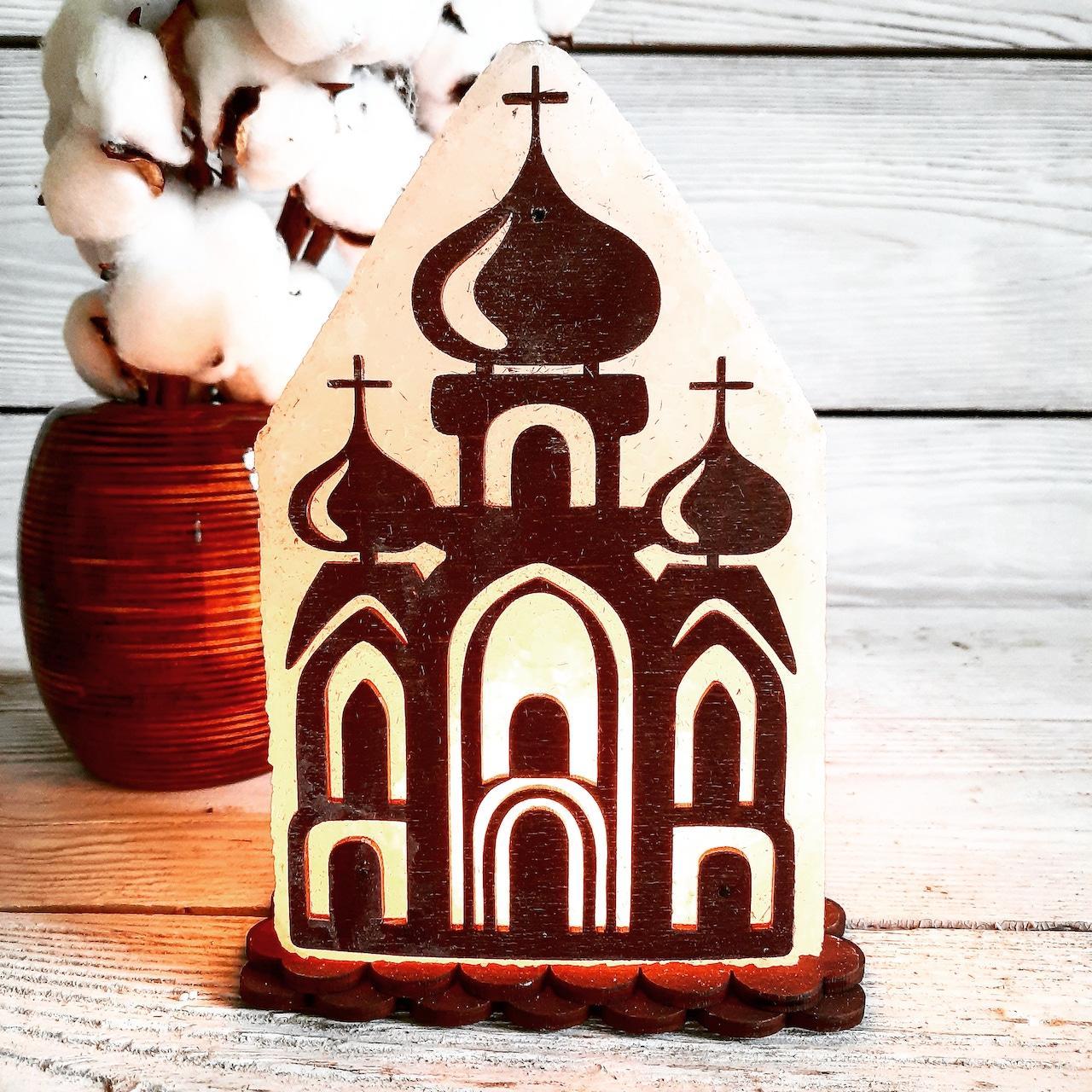 Соляна лампа SaltLamp Церква №2 2-3 кг