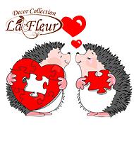 Салфетки столовые LA FLEUR двухслойные 33Х33 см 20 шт Пазл любви