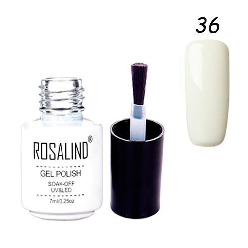 Гель-лак для ногтей маникюра 7мл Rosalind шеллак 36 молочный