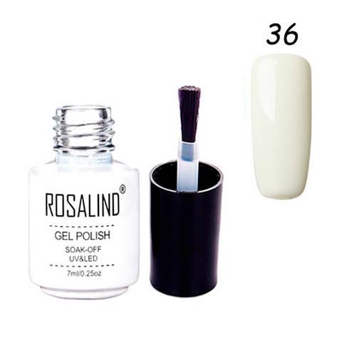 Гель-лак для ногтей маникюра 7мл Rosalind шеллак 36 молочный, фото 2