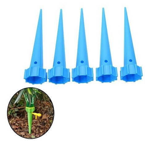5x Система капельного орошения аква конус насадка шип с регулировкой полива, фото 2