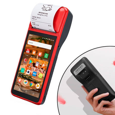 Термопринтер мобильный IPDA064 58мм Qua425 1/8ГБ Android Wi-Fi 4G, фото 2