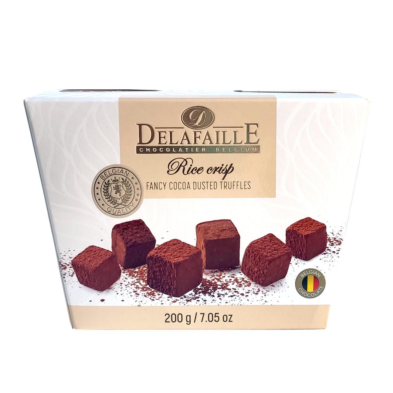 Цукерки трюфель Delafaille Rice crisp, рисові кульки, 200г, 16шт/ящ