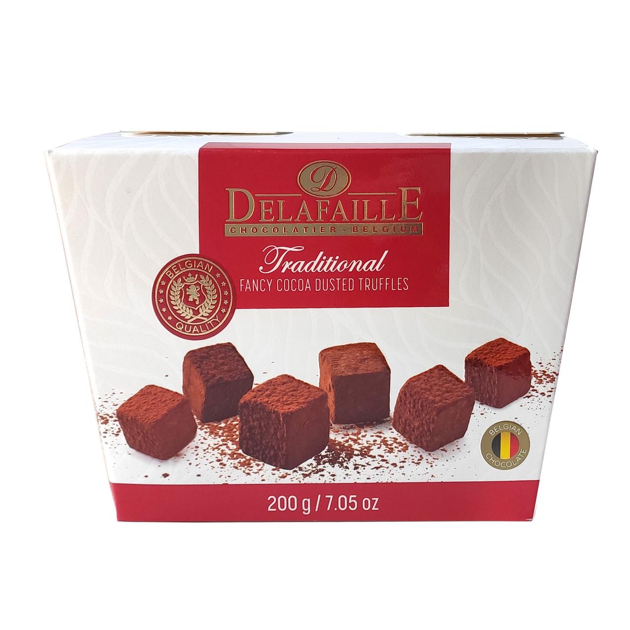 Цукерки трюфель Delafaille Traditional, традиційні, 200г, 16шт/ящ
