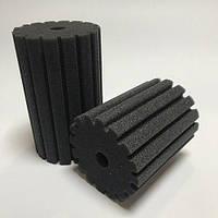 Мочалка/губка для фильтра 6х6х8, цилиндр с вертикальной мелкой прорезью