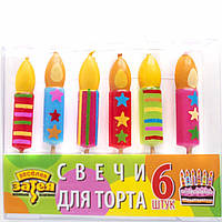 Свечи для торта Веселая Затея Свеча на пиках 6 шт