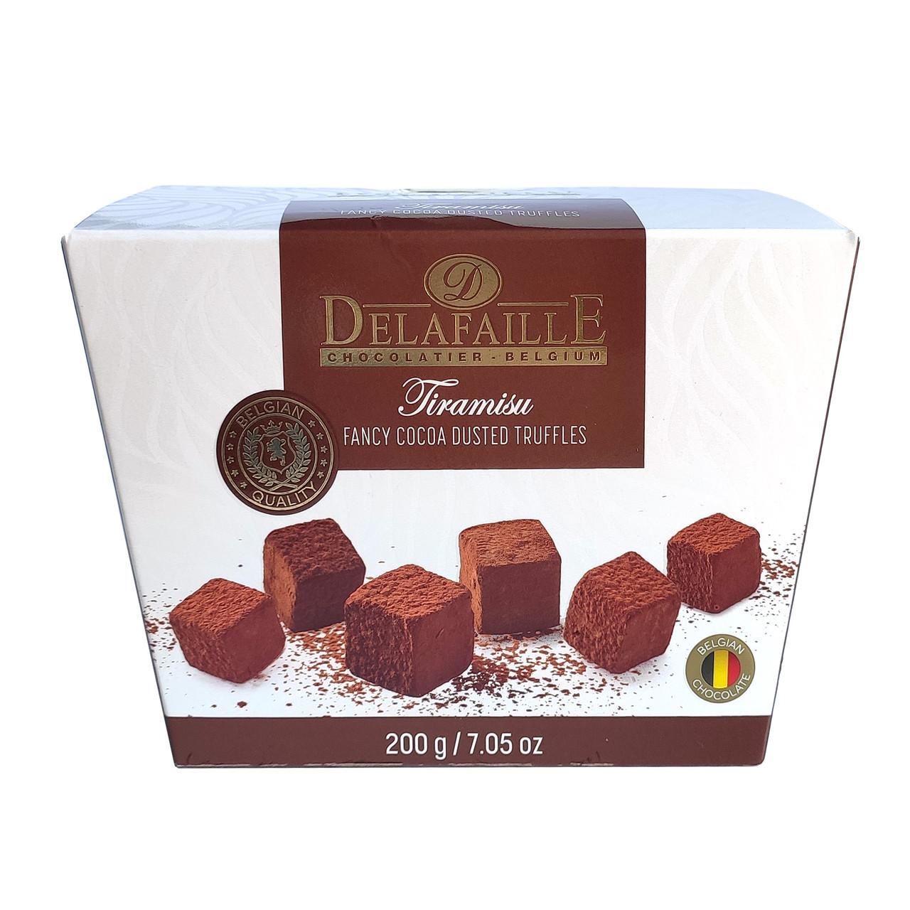 Цукерки трюфель Delafaille Tiramisu, тірамісу, 200г, 16шт/ящ