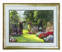 Схема для вышивки бисером Калитка в сад