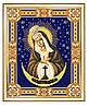 Схема для вышивки бисером Богородица Остробрамская