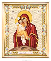 Схема для вышивки бисером Богородица Почаевская