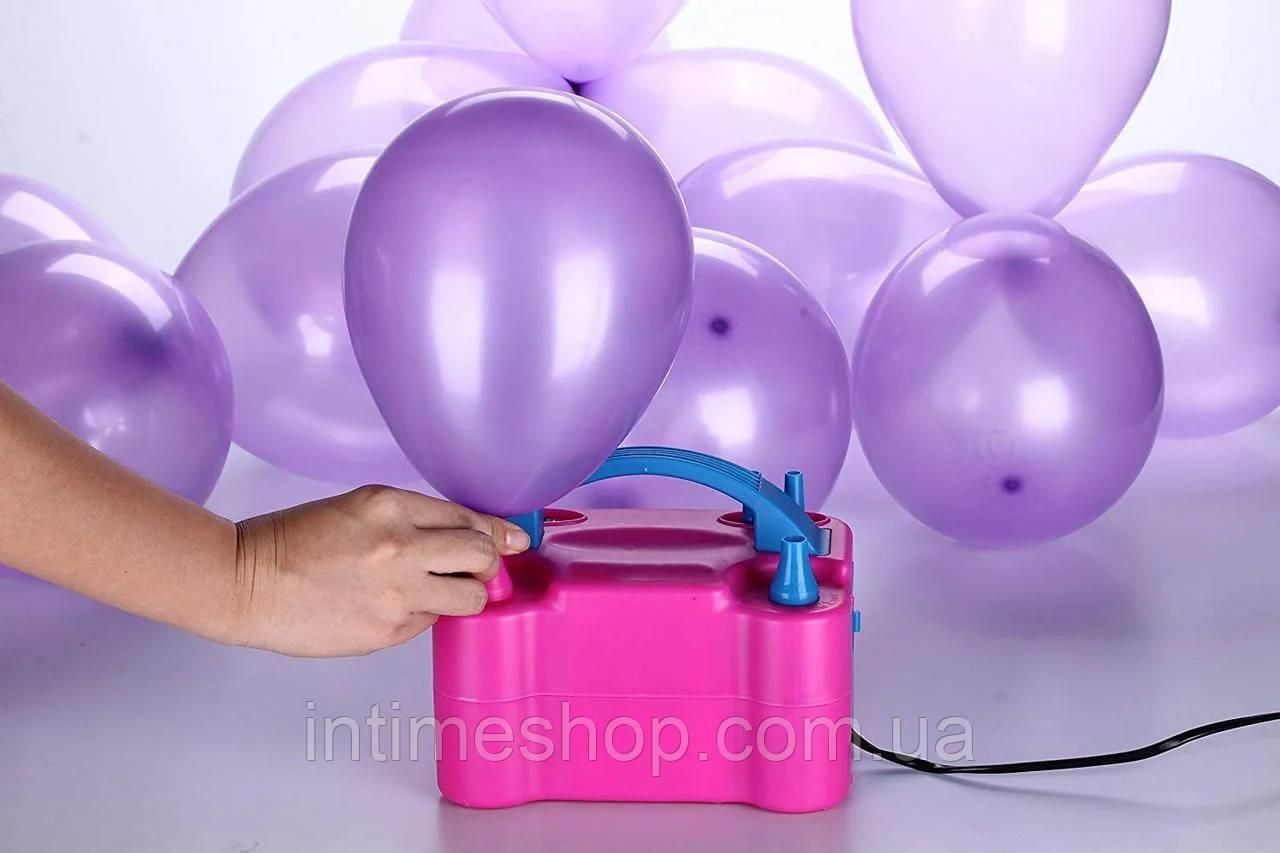 Насос для надування повітряних кульок Balloon Pump 73005, електричний побутовий компресор для кульок