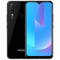Смартфон черный с большим дисплеем и батареей большой емкости на 2 сим карты VIVO U3X 3/32Gb black, фото 1