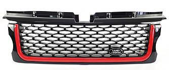 Решетка радиатора Range Rover Sport L320 (05-09) стиль Autobiography (черная + красная полоса)