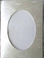 Набор для вышитой открытки (паспарту и канва), перламутр