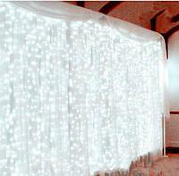 """Гирлянда Водопад , """"Световой Занавес"""" LED 3м×2м холодный белый"""