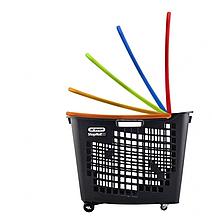 Корзина тележка покупательская пластиковая 55 л на колесах с ручкой SHOP & ROLL 55 L