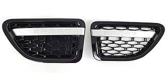 Жабры Range Rover Sport L320 (05-09) стиль Autobiography (черная + серебро)