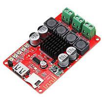 Аудио усилитель плата 2x50W TPA3116 с пультом, Bluetooth, USB, microSD