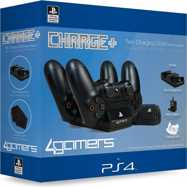 Зарядная станция Twin Premium Charging Dock (Black) (4Gamer)